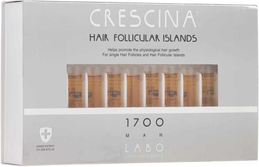Fiole pentru stimularea creșterii părului, pentru bărbați 1700 - Crescina Hair Follicular Islands Re-Growth 1700 — Imagine N1