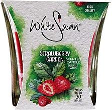 "Parfumuri și produse cosmetice Lumânare aromată ""Strawberry Garden"" - White Swan Strawberry Garden"