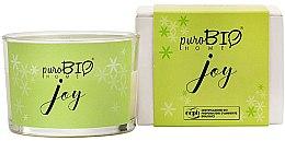 Parfumuri și produse cosmetice Lumânare organică - PuroBio Home Organic Joy