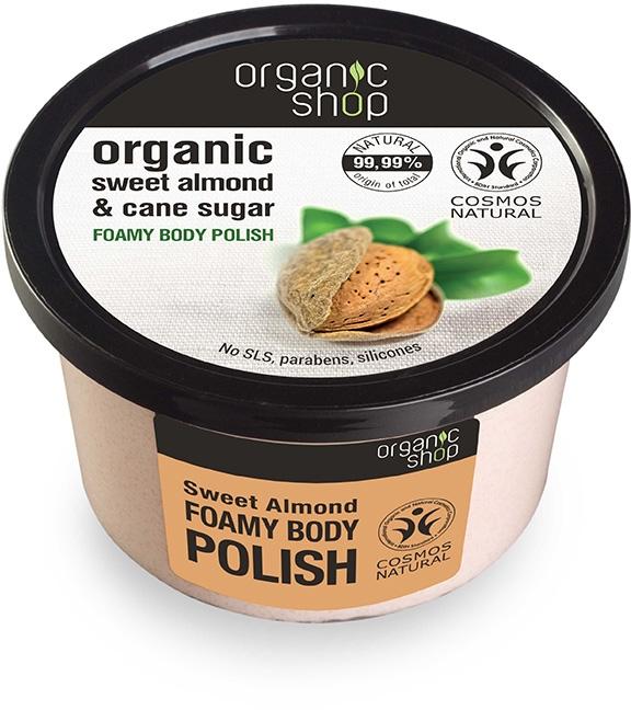 Exfoliant pentru corp cu migdale - Organic Shop Foamy Body Scrub Organic Sweet Almond & Sugar — Imagine N1