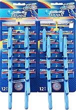 Parfumuri și produse cosmetice Set Aparat de ras de unică folosință, 24 buc - Gillette Blue II Plus