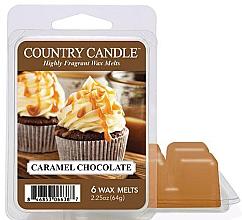 Parfumuri și produse cosmetice Ceară pentru lampă aromată - Country Candle Caramel Chocolate Wax Melts
