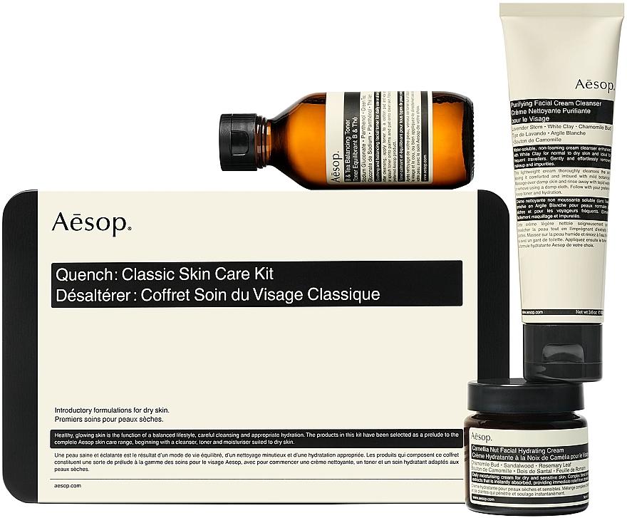 Set - Aesop Quench Classic Skin Care Kit (toner/100ml + cream/100 + cream/60) — Imagine N2