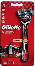 Parfumuri și produse cosmetice Aparat de ras cu 1 cartuș înlocuibil, roșu - Gillette Fusion ProGlide Power