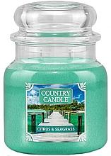 Parfumuri și produse cosmetice Lumânare aromată (borcan) - Country Candle Citrus & Seagrass