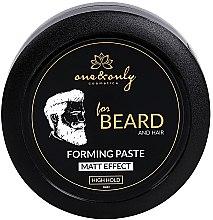 Parfumuri și produse cosmetice Pastă de păr - One&Only Cosmetics For Beard&Hair Forming Paste Matt Effect