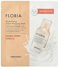 Parfumuri și produse cosmetice Mască de față - Tony Moly Floria Nutra Energy Cream Wrapping Mask
