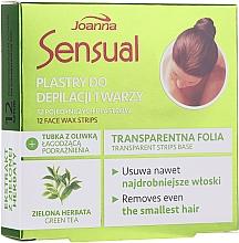 Parfumuri și produse cosmetice Benzi depilatoare pentru față, cu ceai verde - Joanna Sensual Depilatory Face Strips With Green Tea Extract
