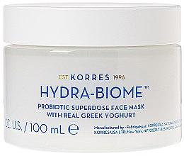 Parfumuri și produse cosmetice Mască cu iaurt grecesc pentru față - Korres Greek Yoghurt Hydra-Biome Probiotic Superdose Face Mask