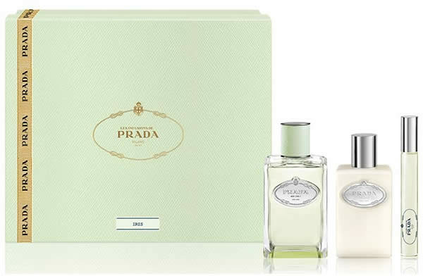 Prada Infusion D'Iris - Set (edp/100ml + + b/lot/100ml + edp/mini/10ml)
