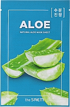 "Parfumuri și produse cosmetice Mască de față ""Aloe"" - The Saem Natural Skin Fit Relaxing Mask Sheet Aloe"