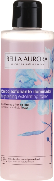 Tonic exfoliant pentru față - Bella Aurora Brightening Exfoliating Toner — Imagine N1