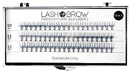 Parfumuri și produse cosmetice Gene false - Lash Brown Premium Flare Silk Lashes Spectacular Long