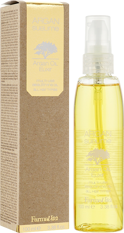 Elixir cu ulei de argan - Farmavita Argan Sublime Elexir — Imagine N1