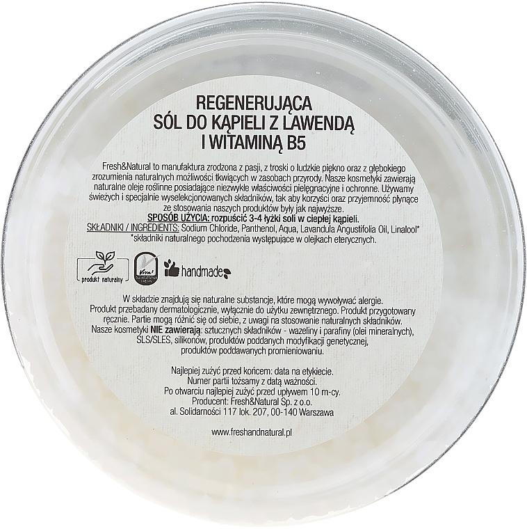 Sare de baie cu lavandă și Vitamina B5 - Fresh&Natural — Imagine N2
