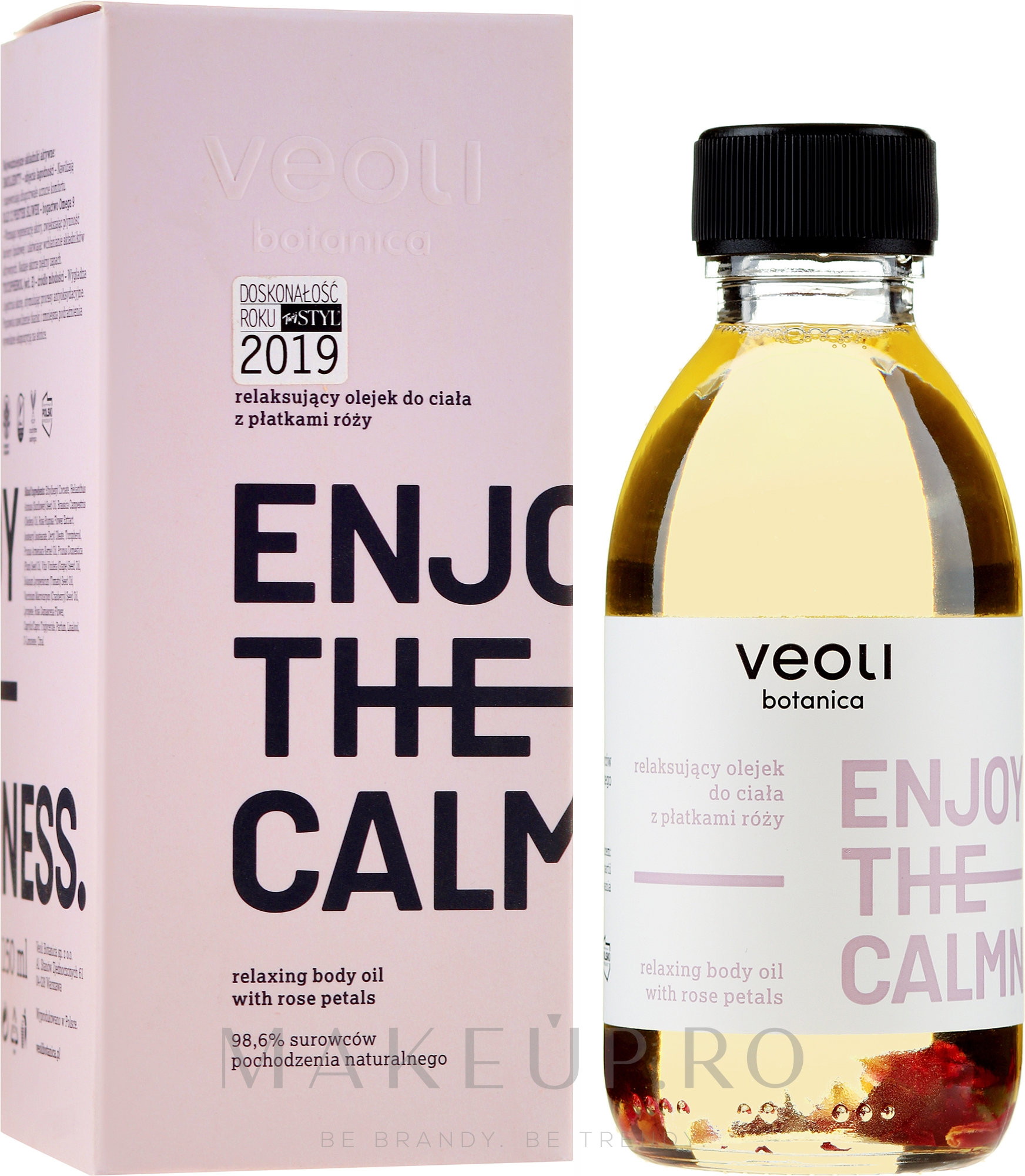 Ulei de corp - Veoli Botanica Relaxing Body Oil With Rose Petals Enjoy The Calmness — Imagine 150 ml