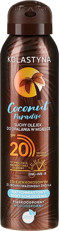 Ulei uscat pentru bronz - Kolastyna Coconut Paradise Oil SPF20
