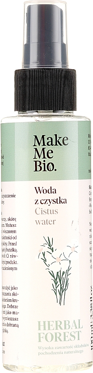 Apă de curățare pentru față - Make Me Bio Cistus Water — Imagine N1