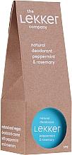 Parfumuri și produse cosmetice Deodorant cu mentă și rozmarin - The Lekker Company Natural Deodorant