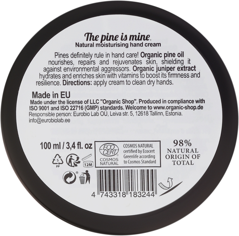 Cremă de mâini - Organic Shop Organic Kitchen Cream — Imagine N2