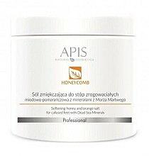 Parfumuri și produse cosmetice Sare de baie pentru picioare - APIS Professional Softening Honey And Orange Salt