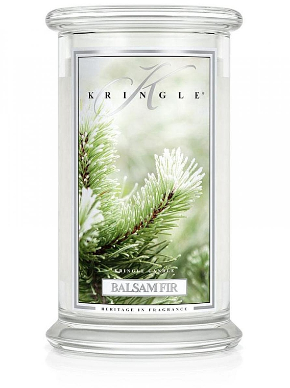 Lumânăre aromată în suport de sticlă - Kringle Candle Balsam Fir — Imagine N1